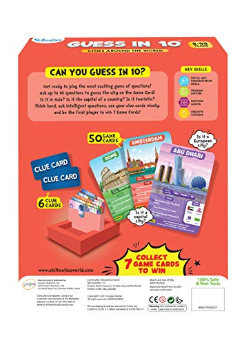 Skillmatics Guess in 10 Cities Around The World - Card Game of Smart Questions for Kids & Families | Super Fun & General Knowledge for Family Game Night | Gifts for Kids (Ages 8-99)