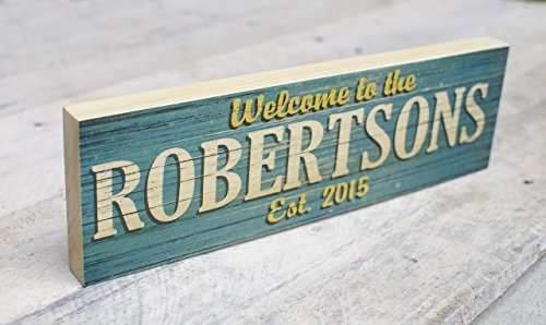 Personalized Family Name Wood Sign – Custom Made Real 3/4 Thick Poplar Wood Sign – Wedding Gift