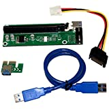 MagiDeal USB 3.0 Port PCI-E Express 1x to16x Extender Riser Board Card Adapter SATA Cable Connector