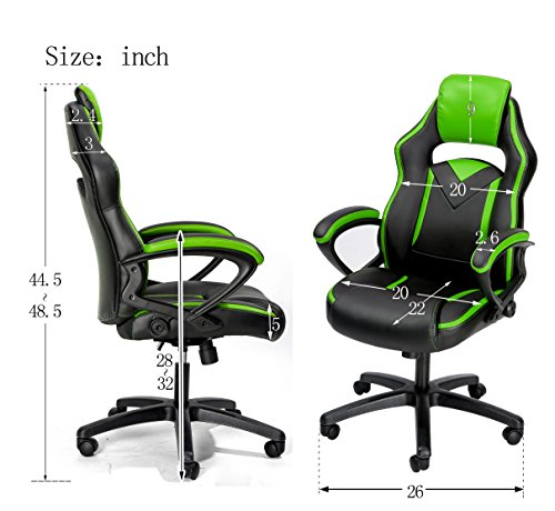 Merax Office Chair Computer Gaming Desk Chair Racing Style