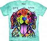 The Mountain Dog is Love Adult Light Blue T-shirt XXL