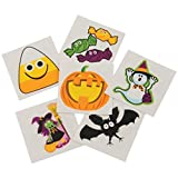 Assorted Halloween Theme Temporary Tattoos (144)