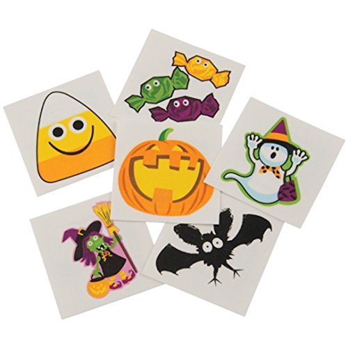 Assorted Halloween Theme Temporary Tattoos (Children's Halloween Carnival Games)
