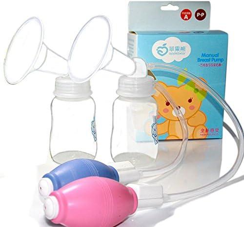 Portable Latte Collector manuale tiralatte manuale tiralatte Bonus aspirazione cereali biberon per il bambino Allattamento 1pc blu