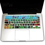 LIPPO Undersea World Pattern Silicone Keyboard Cover Skin for 13inch MacBook Ultra Thin Keyboard Skin Cover