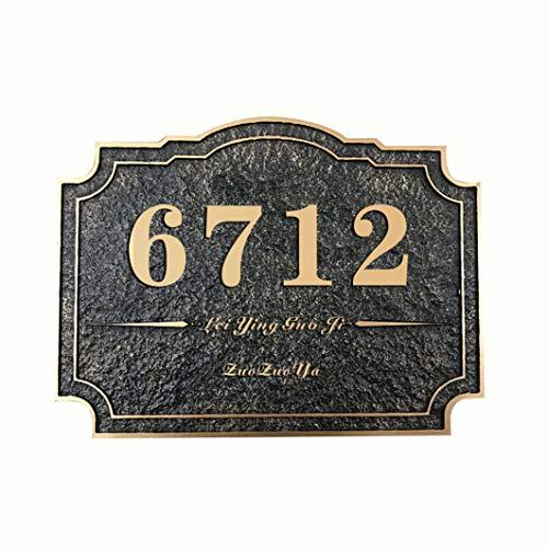 [해외]ZUOZUOYA Customized Acrylic House Address Plaque - Custom Superb Square House Number Sign(11.8× 7.813.7× 9.8) - Personalized Style and Address Choices Available / ZUOZUOYA Customized Acrylic House Address Plaque - Custom Superb S...