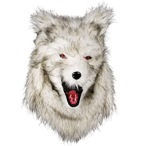Boland 72190 Head Mask Werewolf with Fur Multi-Coloured