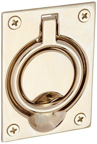 Baldwin 0395140 Flush Ring Pull, Bright Nickel (Bright Nickel Flush Pulls)