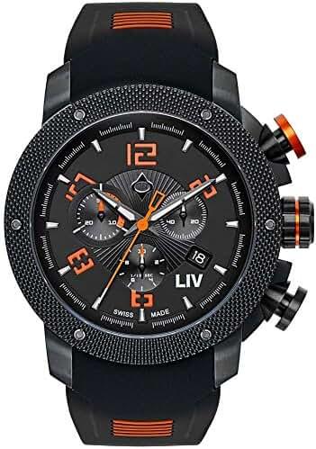 LIV Watches Genesis X1 Mens Chronograph 45MM 1210.45.10.SRB100