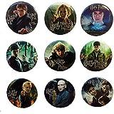 Harry Potter Buttons Badges 9 Pcs Set #1
