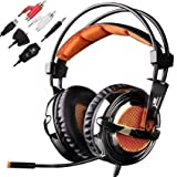 SADES SA928 Multi-platform 3.5mm Stereo Gaming Headset Over-Ear Headphone w/ Microphone for Xbox 360 PS3 PS4 PC Mobile Phone