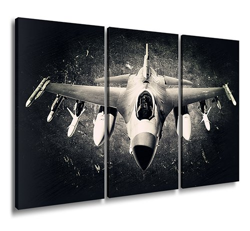 Airplane Pictures Canvas Print Wall Art Vintage Aircraft Aviation Art Black & White Prints Giclee Artwork Ready to Hang for Office Home Interior Decor 3 Piece Contemporary Painting for Office