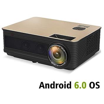 Cine en casa Proyectores,4000 Lúmenes Android 6.0 WiFi Bluetooth ...