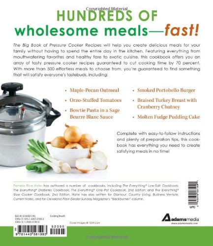 the big book of pressure cooker recipes more than 500 pressure cooker recipes for fast and flavorful meals