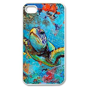 Sea Turtle Unique Fashion Printing Phone Case for Iphone 4,4S,personalized cover case ygtg565148