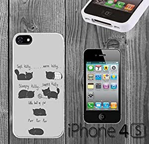 Soft Kitty Custom made Case/Cover/skin FOR iPhone 4/4s - White - Rubber Case ( Ship From CA)