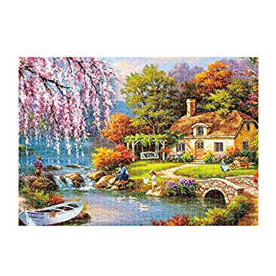 Vcenty 1000 Piece Landscape Puzzle Game Interesting Toys 16.5x11.7 Inch Adults Puzzles Home Decor Festival Gift Intellectual Game Wall Art Large Puzzle Game Jigsaw Puzzles: Toys & Games