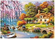 Kanzd Jigsaw Puzzle 1000 Pieces for Adults, Landscape Building Pattern Adult Children Puzzle Puzzle Intellective Educational