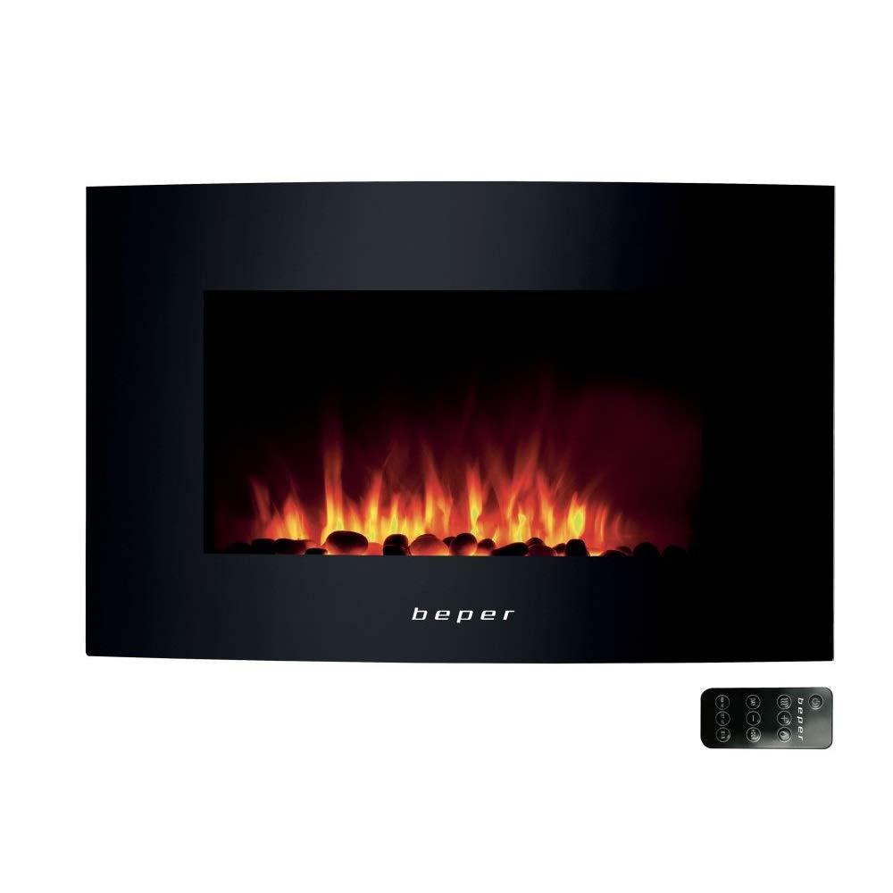BEPER RI.503 Chimenea El/éctrica de Pared Color Negro 1750 w