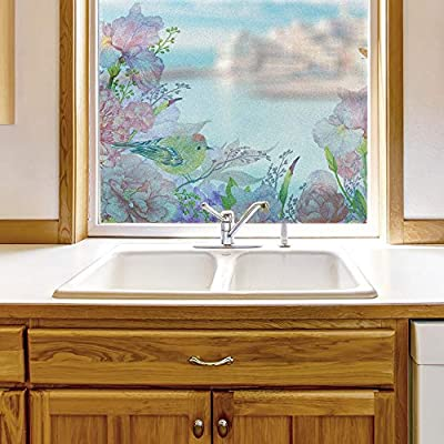 Classic Design, Amazing Technique, Window Film for Privacy Story Plants Large Decorative Glass Sticker for Office Home Meeting Room Bathroom Self Adhesive Anti UV Removable Flims