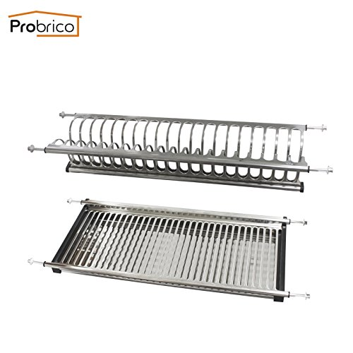 Probrico Stainless Steel Dish Drying Rack for the Cabinet