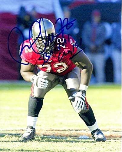 (Autographed Signed Roman Oben 8x10 Tampa Bay Buccaneers Photo - Certified Authentic)