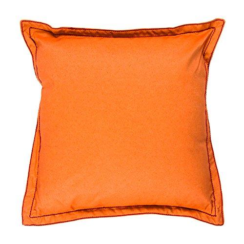 Thedecofactory 297684 Coussin, Coton, Orange, 40 x 40 x 3 cm