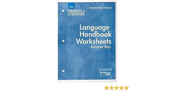 Elements of Literature Language Handbook Worksheets Answer Key – Language Handbook Worksheets Answer Key Online