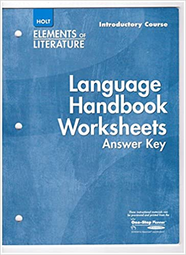 Elements of Literature: Language Handbook Worksheets Answer Key ...
