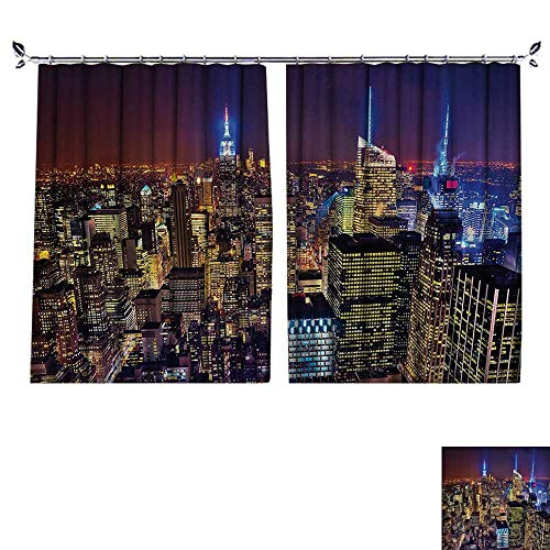 Penthouse Cherry - DESPKON UV-proofpolyester Material erial Cityscape Landmark Fourth of July Independence Penthouse Modern Floor Curtains W72 x L96