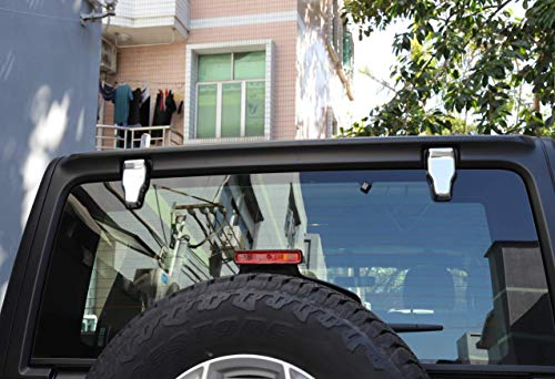 RT-TCZ Car Rear Window Liftgate Glass Hinge Cover Trims Sticker Interior Accessories for Jeep Wrangler JL 2018 (Chrome)