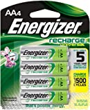 Energizer Recharge Universal 1400 mAh Rechargeable AA Batteries, Pre-Charged, 4 count