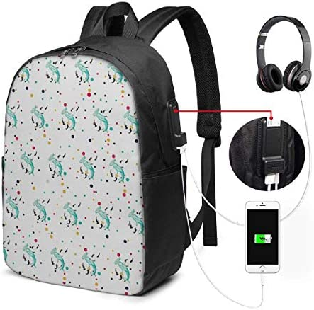 RROOT Root Unisex Rucksack mit USB-Ladeanschluss, Hammerhead Shark Klassische Mode General Business Bookbag