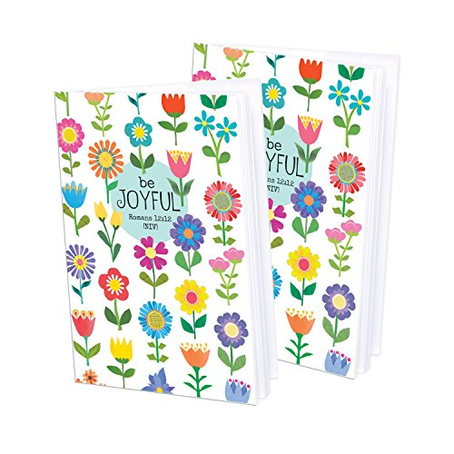 Set of 2- Flower Patch Mini-Journal blank notebook with scripture - Flowers Mini Journals