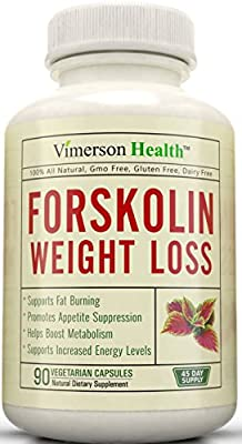 45 DAY SUPPLY - Forskolin Extract for Extreme Weight Loss. Best Diet Pills That Work Fast for Women and Men. Premium Appetite Suppressant, Metabolism Booster & Carb Blocker. 100% All Natural & Pure