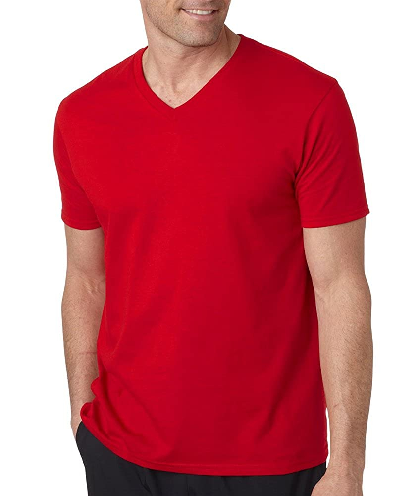 6af8bc975bf Amazon.com: Gildan Men's Preshrunk Rib Knit V-Neck T-Shirt, Cherry ...