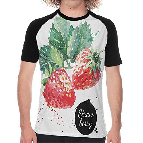YEYUXIANGLAN Men's Baseball t-Shirt Slim Short-Sleeved T-Shirt S-XXL