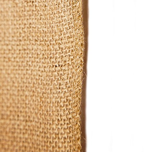 14'' x 50yd NO-FRAY NO-Mess Burlap Table Runner Roll ~ 14'' Wide x 50 Yards Long Table Runner Fabric w/Finished Edges. Perfect for Weddings, Placemat, Crafts. Decorate Without The Mess! by RC RICHCRAFT (Image #2)