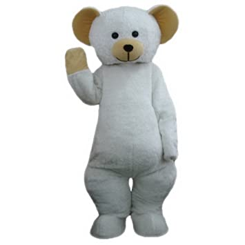 Orso polare a piedi cartone animato characte natale di halloween