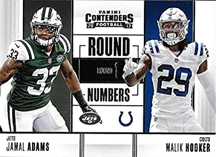 the latest 04840 d6381 Amazon.com: 2017 NFL Contenders Round Numbers #4 Jamal Adams ...