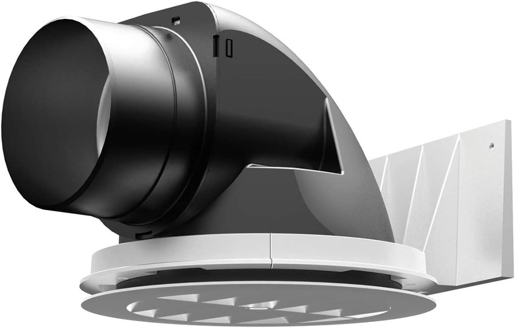 Hon Guan 6 Inline Booster Fan 173 CFM, Black Metal Inline Vent Blower, Great Exhaust Fan For Bathroom Kitchen Grow Tent Exhaust and Intake