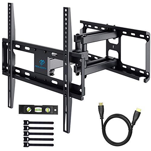 PERLESMITH TV Wall Mount Bracket Tilts, Swivels, Extends - Full Motion Articulating TV Mount for 26-55 Inch LED, LCD, Plasma Flat Screen TVs up to 99lbs Max VESA 400x400 (Wall Mount For Sony Bravia 55 Inch)