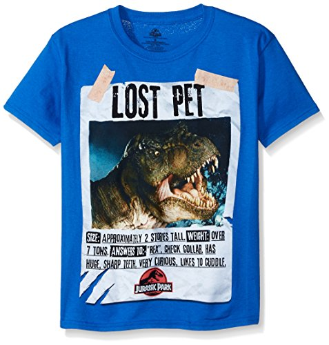 Price comparison product image Jurassic Park Big Boys' Short Sleeve T-Shirt Shirt,  Royal,  Medium / 10-12