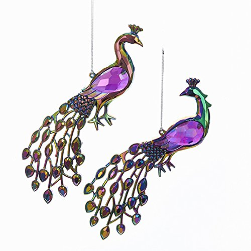Kurt Adler PEACOCK MULTI - COLOR ORNAMENT 2A