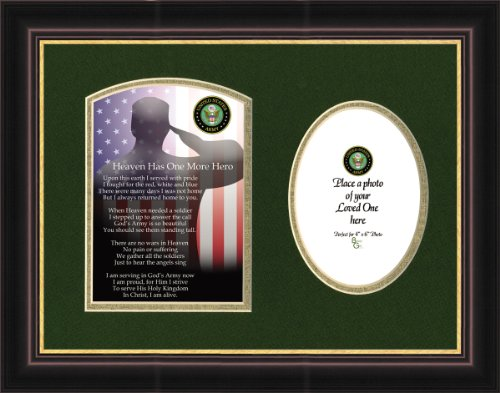 Military Memorial Army Framed Gift for Sympathy and Condolence for Veterans or those who served in the Military