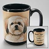 Dog Breeds (L-Z) Lhasa Apso 15-oz Coffee Mug Bundle with Non-Negotiable K-Nine Cash by Imprints Plus (111)
