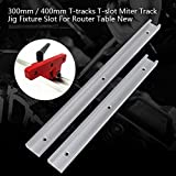 Straight Edge Clamping Tool Guide, Locking Handle Heavy Gauge Circular Saw Guide for Straight, Wide Track Power Tool Guide for Circular Saws (300mm)