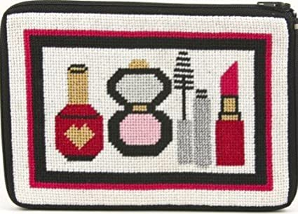 Cosmetic Purse - Make-Up and Things - Needlepoint Kit Alice Peterson AP-SZ579