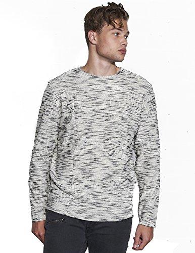 NaNa Judy Men's White Rose Sweater Texture Grey Premium Streetwear,Grey,X-Large by NaNa