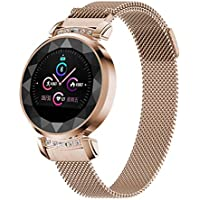 SODIAL Db13 Smart Bracelet Women Blood Pressure Measurement Smart Watch Fitness Tracker Smart Band Ip68 Waterproof Andriod iOS(Rose Gold)